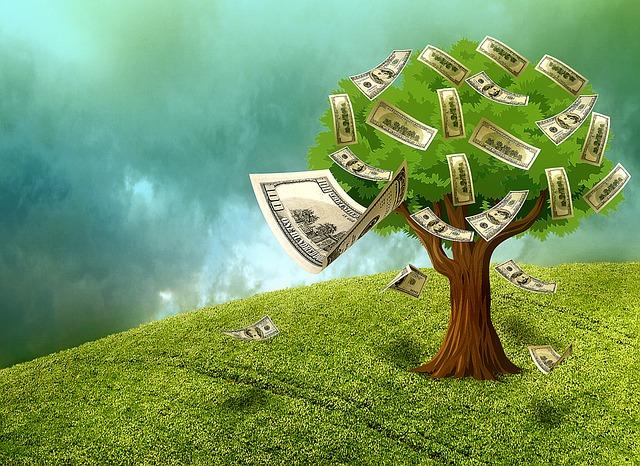 strom a bankovky