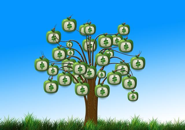 peníze na stromě rostou